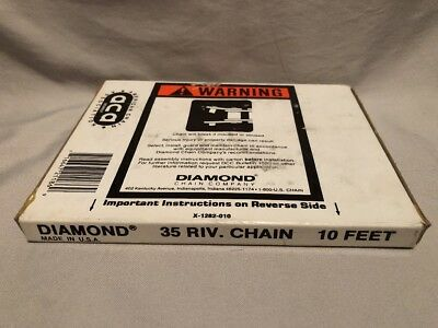 New Diamond Roller Chain 35 Riv 10 Ft X-1282-010