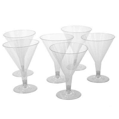 Clear Disposable Party Plastic Clear Cocktail Martini Glass 200 Ml Cups Bulk Buy