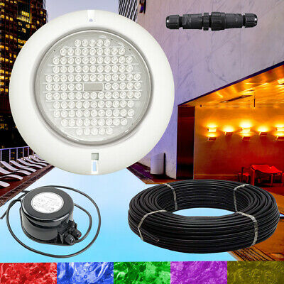 NEW Swimming Pool Resin Filled Light RGB +Power Supply +Cable  Quality Retro Fit