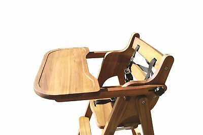 Baby High Chair Wooden Feeding Highchair Kids Eating Child Safe Wood Pod Seat