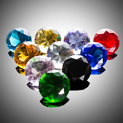 10 Colors Crystal Diamond Paperweight Decorative Ornament Wedding Gift 30MM