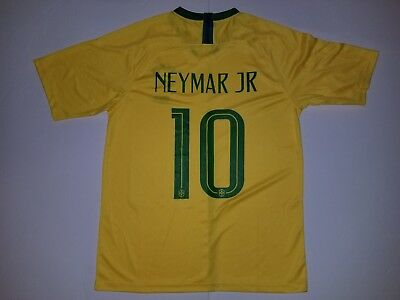 013a959a2 Men s NEYMAR  10 2018 World Cup Brazil Soccer Team Yellow Soccer Jersey