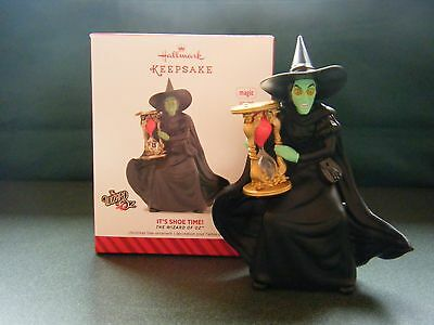 """Wicked Witch of the West """"IT'S SHOE TIME""""  Hallmark Keepsake Ornament"""