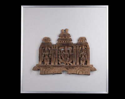 Indien 19. Jh. Architektonisches Holz - South Indian Wood Architectural Fragment