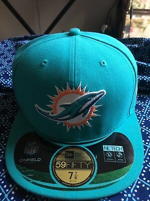 MIAMI DOLPHINS NEW Era Retro 7 7 8 Aqua NFL On Field 59Fifty Fitted ... 10bd7d3b2