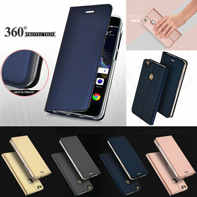 For Huawei P8 Lite 2017 P10 Mate 9 Slim Leather Case Flip Magnetic Wallet Cover