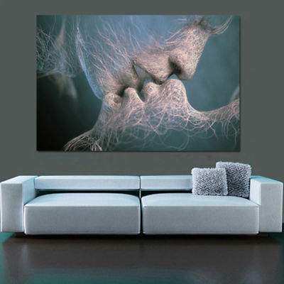 Fashion Love Kiss Abstract Art Painting Wall Art Picture Print Home Decor
