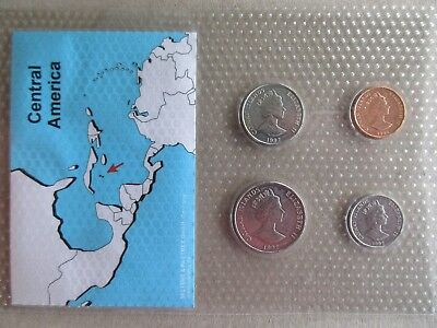 Cayman Islands......4 Uncirculated Coins....year 1992..in Plastic Cover