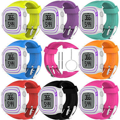Replacement Silicone Wrist Watch Strap Band For Garmin Forerunner 10 / 15 S, L