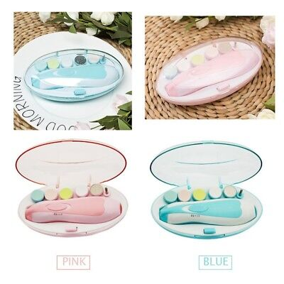 Electric Baby Nail File Tool Safe Trimmer Newborn Toddler Toes Care Fingernails