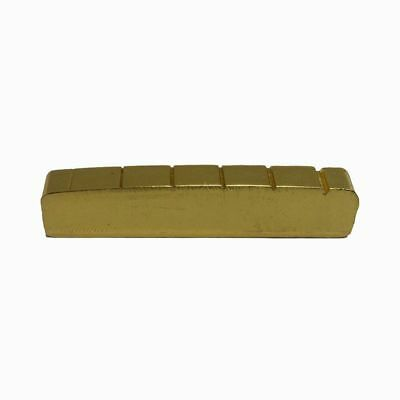 6 String Slotted Brass Gold Palted Acoustic Guitar Nut for Acoustic Guitar  O1K6