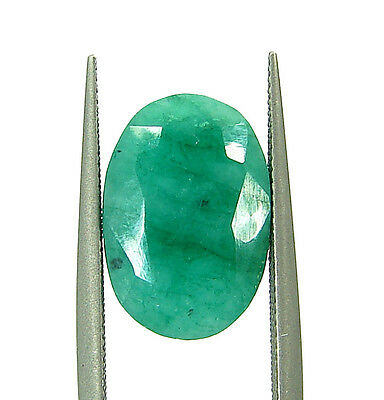 4.40 Ct Natural Certified Green Emerald Loose Oval Cut Ringsize Gemstone- 108938
