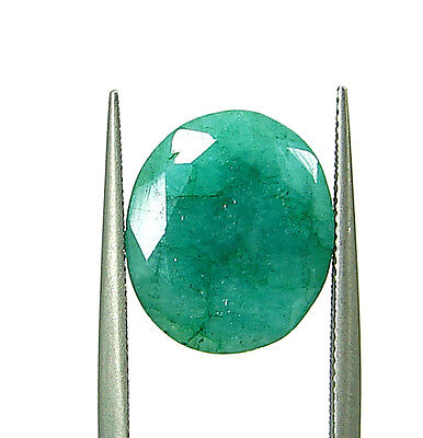 4.25 Ct Natural Certified Green Emerald Loose Oval Cut Ringsize Gemstone- 108929