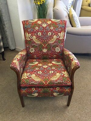 Parker Knoll Froxfield Arm Chair Accent William Morris Strawberry Thief 220312