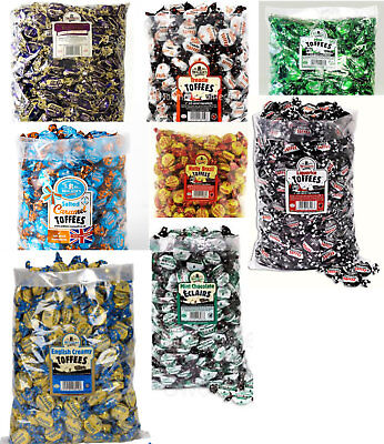 Walkers  NONSUCH Liquorice Treacle Brazil Salted Caramel Eclairs Toffee 2.5KG