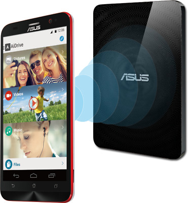 ASUS Travelair N Wi-Fi , 2 TB Wireless Hard Drive with built-in SD card reader