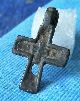 Ancient bronze little cross Kyiv Rus 11-13 AD.VERY RARE!