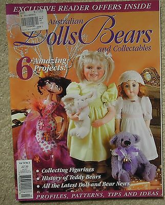 AUSTRALIAN DOLLS BEARS & COLLECTABLES Vol 15 No 2 Incl. PATTERN SHEET