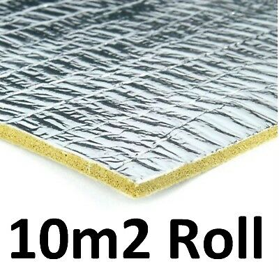 10m² - TimberHush Excel Tech Pro - 3mm Thick Rubber & Silver Foil Underlay