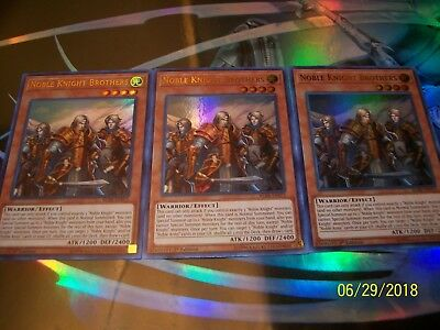 3x Noble Knight Brothers 1st Edition Ultra Rare BLRR-EN072 Yu-Gi-Oh!