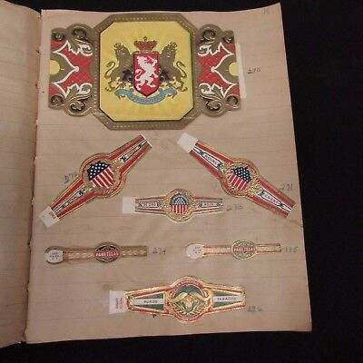 Scrapbook Collection of 500 Cigar Bands from the 30's and 40's