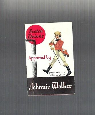 RARE Collectible 1939 JOHNNIE WALKER, Canada Dry Ginger Ale Inc. Recipe Booklet