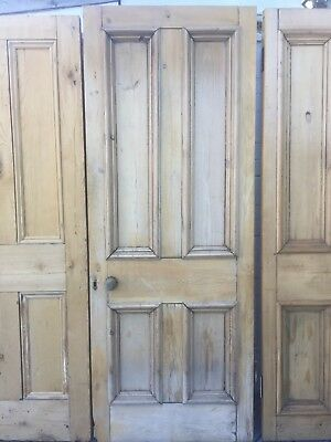 Old Victorian reclaimed 4 four panel pine door doors W76cmxH200cm thickness 4.6