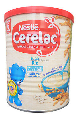 4 x Nestle Cerelac Rice with milk (400g) From 6 Months (Pack of 4)