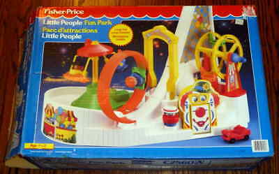 1992 Vintage Fisher Price Little People Fun Park - New Opened Box, Complete