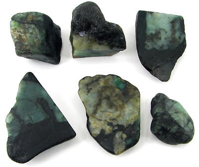 500.00 Ct Natural Emerald Loose Gemstone Rough Specimen Lot of 6 Pcs - 11023