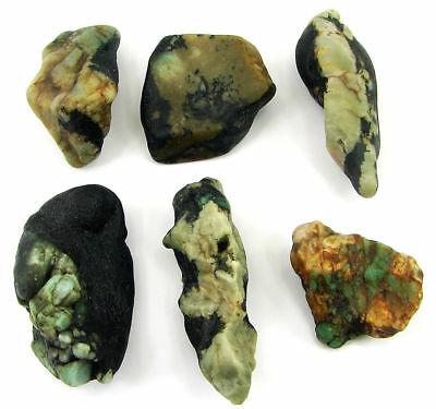 500.00 Ct Natural Emerald Loose Gemstone Rough Specimen Lot of 6 Pcs - 11024