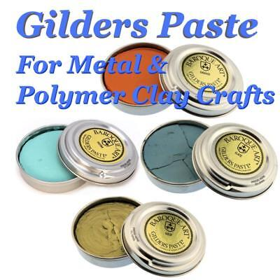 Gilders Paste 27ml  - 30ml tins various Colours for finishing metal and wood
