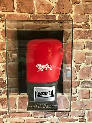 Boxing glove Wall mounted  Personalised perspex display