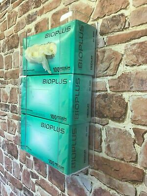Disposable S,M,L Glove Wall mounted Dispenser Clear