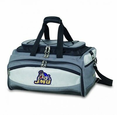 NCAA James Madison Dukes Buccaneer Tailgating Cooler with Grill. Picnic Time