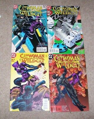 Catwoman - Wildcat 1-4 - Full Set  -  Dc Comics 1998