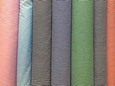 Metre x4 PolyCotton Candy Stripe Collection Fat 1//4 50x56cm
