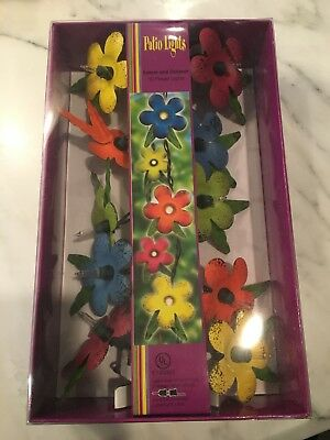 Patio Lights Flowers 10 ct Assorted Color