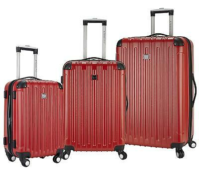 Travelers Club Luggage Madison 3-Piece Expandable Hardside Luggage Set, Red