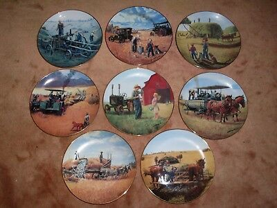 Emmett Kaye Danbury Mint Collector Plate Set Farming The Heartland Nib 1990