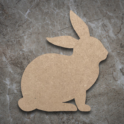 Large MDF Rabbit Bunny Craft Wooden Shape Blank Wood 10 20 30 40cm Unpainted