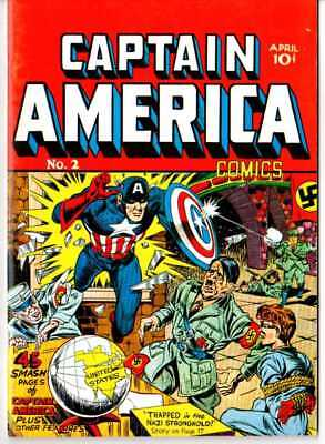 Captain America #2 (1941) 1960's REPRINT RARE