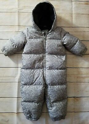 Baby Gap Gray Heather Puffer Down Snowsuit -- Size: 18-24 Months