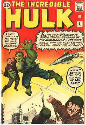 Hulk 3 Custom Made Cover with REPRINT FROM 1965