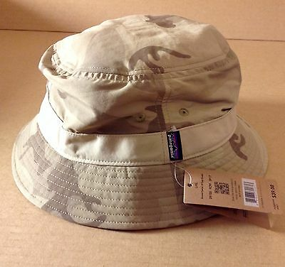 70f113a3 NWT Patagonia Wavefarer Bucket Hat Forest Camo El Cap Khaki Size Small/ Medium