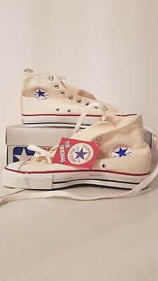c9a0d07bc193 CONVERSE VINTAGE SHOES HIGH ALL STAR 80 s 90s WITHE USA SIZE 10