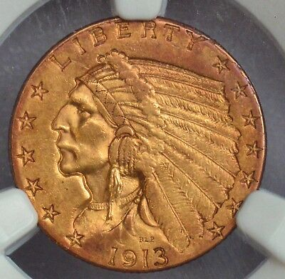 NGC 1913 $2.5 original  crusty toned Indian with an eye appealing look - toning
