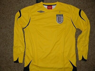 c4e2f9c08 2006 2008 Umbro England Goalkeeper Soccer Jersey Football Shirt L s New  Large