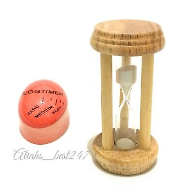 Wooden Sand Egg Timer Decorative Hourglass and Boil Egg Colour Changing Timers.