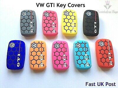 VW Silicone Key Case Shell Cover Golf Jetta GTI Polo Passat Volkswagen Mk5 Mk6